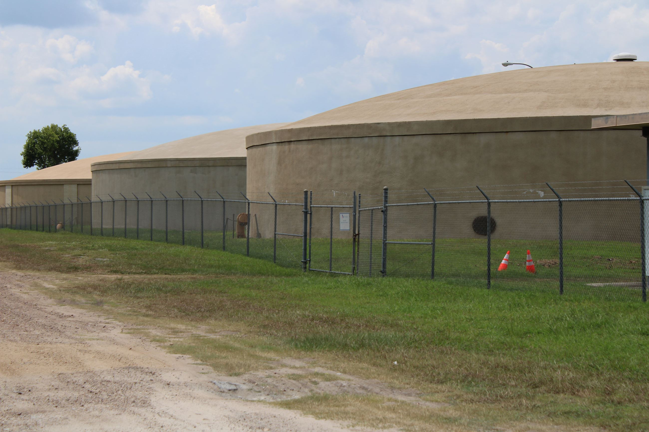 Clean, pale-colored water tanks