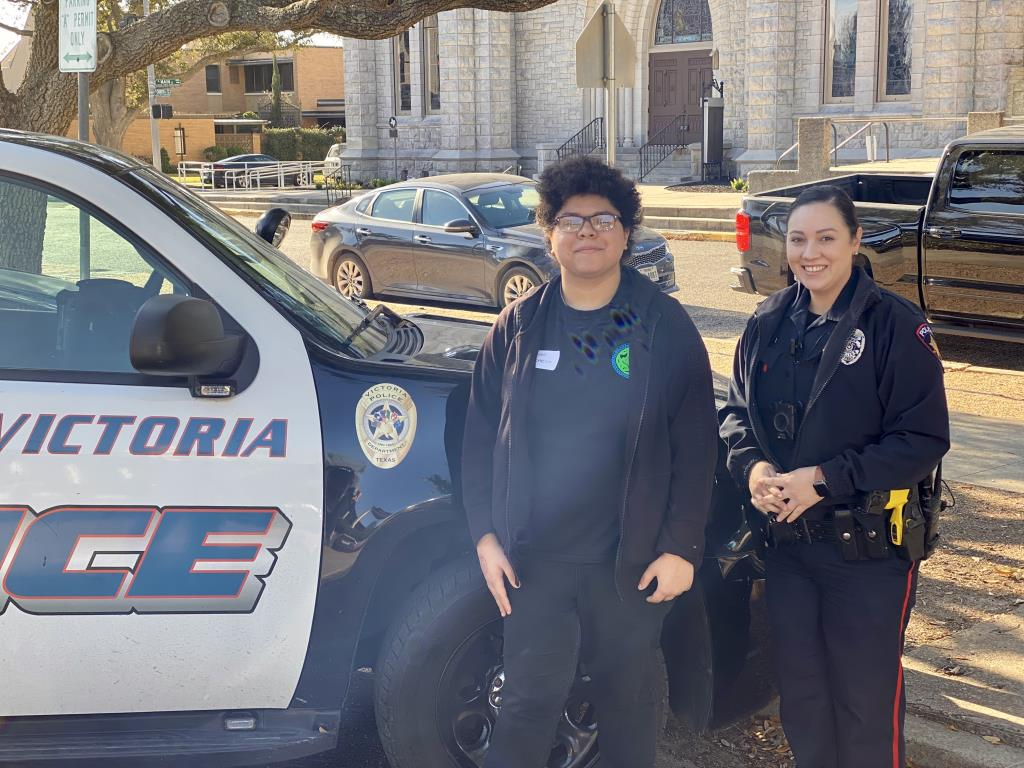 Victoria Police Department job shadow student Ayumi Pacheco
